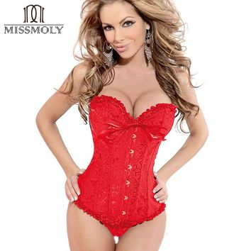 Miss Moly Women Gothic Steampunk Corset Dress Overbust Bustier Top Waist Cincher Shaper Corsets and bustiers Lingerie corselet