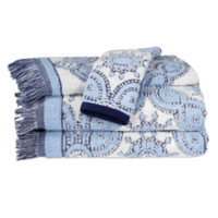 Petra Light Indigo Towel Collection by John Robshaw