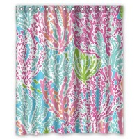 Lilly Pulitzer Quotes shower curtain 60x72 inch