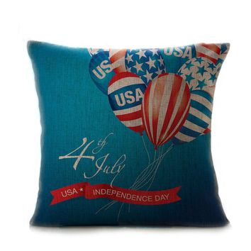 Vintage American Flag pillowcase for the pillow 45*45 velvet pillow cover pillowcase