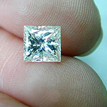 1.50ct G-SI2 Loose Diamond Princess EGL certified Jewelry JEWELFORME BLUE