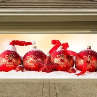 Christmas Garage Door Cover Banners 3d Holiday Outside Decorations Outdoor Decor for Garage Door G66