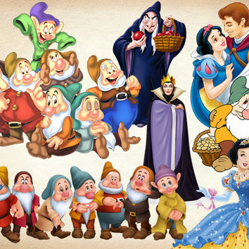 35 Snow White Clipart PNG princess Digital Graphic Image princess Snow White Scrapbooking Invitations INSTANT DOWNLOAD printable 300 dpi