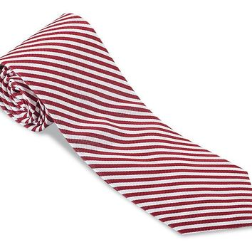 Red/ White Sherman Striped Necktie - F2543