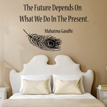 Wall Decals Vinyl Decal Sticker Feather Quote Yoga Art Mural Bedroom Decor KG815