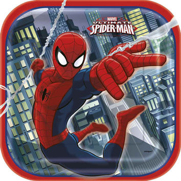 Spider-Man 9 Inch Plates [8 Per Package]