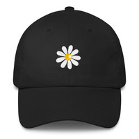 Daisy Flower Dad Hat Strap Back Cap