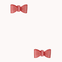 FOREVER 21 Cool-Girl Bow Earrings