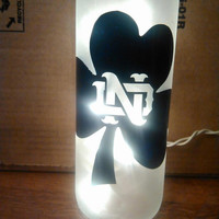 Notre Dame Lighted Wine Bottle (Many different designs to choose from) Can be customized!