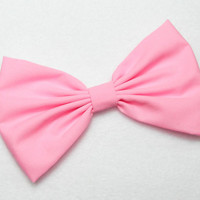 Sweet Pink Bow Clip Hair Accessories Women Teens Girls Cheer Bows Fabric solid classic color bows bowtie statement style big bow medium