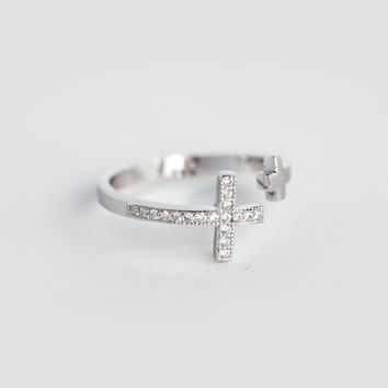 Sterling Silver Cross Wrap Ring