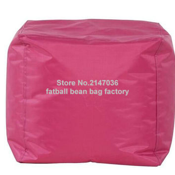 pink bean bag sofa chair, outdoor waterproof beanbag living room furniture stool