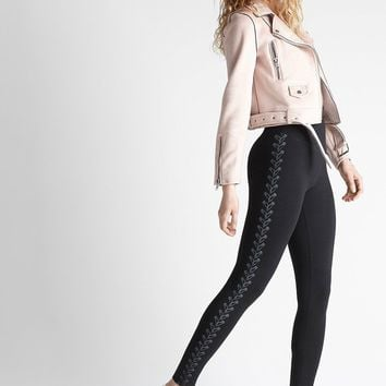 Yummie Waistband Shaping Legging with Foil Print