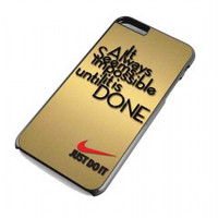 nike quote Just Do it for iphone 6 plus case
