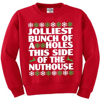Jolliest Bunch This Side of The Nuthouse Red Sweater