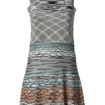 Missoni contrasting patterns knitted dress