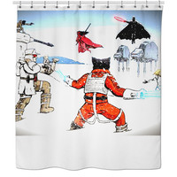 Special edition Star Wars / xmen shower curtain