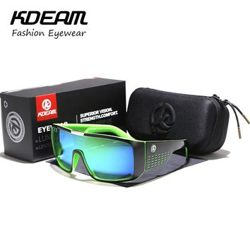 Men Big size Sunglasses Sport Goggle Women Sun Glasses Windproof UV400 protection With case