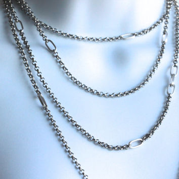 Stainless Steel & Aluminum Necklace