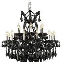 Karla - Hanging Fixture (19 Light Traditional Hanging Crystal Chandelier) - 2380D30