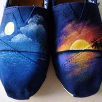 Sunset TOMS by LamaLand on Etsy