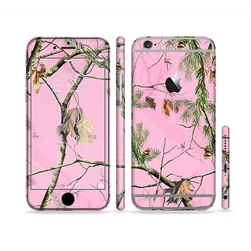 The Pink Real Camouflage Sectioned Skin Series for the Apple iPhone 6