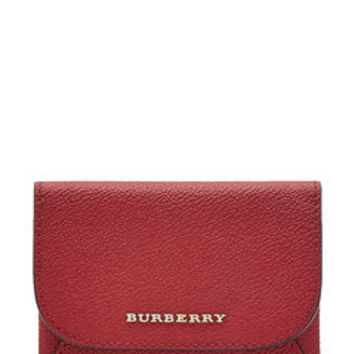 Leather Coin Purse - Burberry London | WOMEN | US STYLEBOP.COM