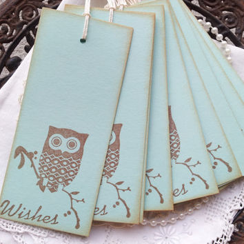 Baby Shower Wish Tree Tags Owl Set of 25