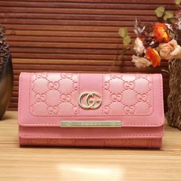 DCCKW2M GUCCI Women Leather Multicolor Wallet Purse