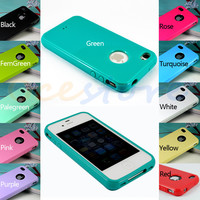 Cute Glossy Soft TPU Gel Case Cover Skin For iPhone 4S 4G 4 (11 Colors)