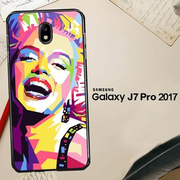 Andy Warhol Marilyn Monroe Pop Art Y0372 Samsung Galaxy J7 Pro SM J730 Case