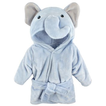 Hudson Baby Newborn Baby Boys' and Girls' Plush Bathrobe, Choose Your Color (Size: 0-9M, Color: Pink Owl)