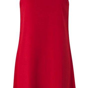 Chevron Sleeveless Bow Back Dress - Red