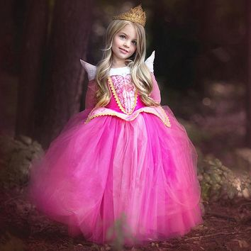 Christmas Gift Fairy Princess Dress Beauty Aurora Children Dresses For girls cloths Party Cosplay Kids Party Wear Tulle Dress#EA