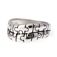925 Sterling Silver Piece Puzzle Ring