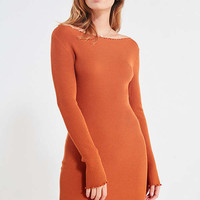 UO Lettuce Edge Ribbed Bodycon Dress | Urban Outfitters