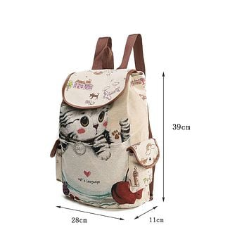 Children Miyahouse Cute Cat Backpack