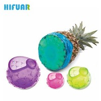 HIFUAR 4Pcs/Set Food Grade Silicone Cover Blubber Saran Food Fresh Bowl Sealed Cover Melon Stretch Suction Sealer Kitchen Tools