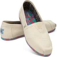 TOMS Natural Coral Earthwise Women's Vegan Classics Slip-on Shoes ,