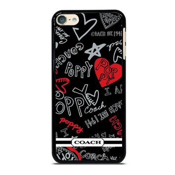 COACH NEW YORK POPPY iPod Touch 6 Case Cover