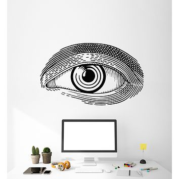 Vinyl Wall Decal Abstract Man's Eye Sketch Drawing Art Stickers Mural (g1753)