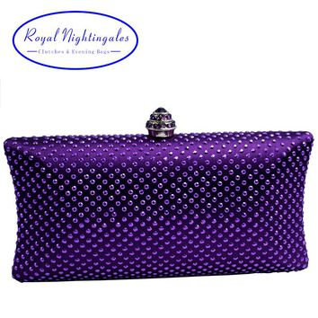 Elegant Women Evening Bag and Clutches with Rhinestone Crystal for Women's Prom Party Wedding