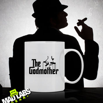 The Godmother Godmother Gift for Godmother Godchild mothers Day Christmas Gift Grandma Coffee Mug Latte Ladies Womens gift mad labs Mug-5