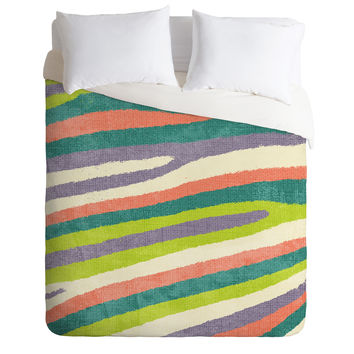 Nick Nelson Fruit Stripes Duvet Cover