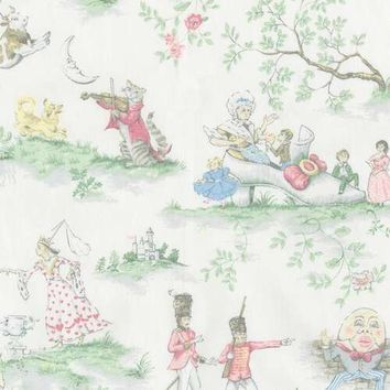 Nursery Rhyme Toile Fabric by the Yard