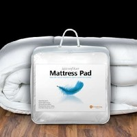 Hospitology Heavenly Microfiber Goose Down Alternative Overstuffed Mattress Pad / Topper, 39-Inch by 80-Inch, Twin XL