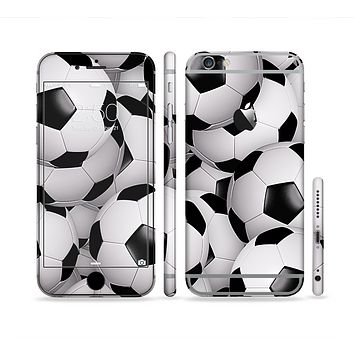 The Soccer Ball Overlay Sectioned Skin Series for the Apple iPhone 6