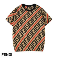 Fendi New fashion more letter print couple top t-shirt Red
