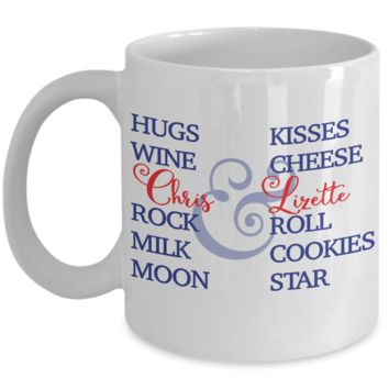 Best Funny Gift - 11OZ Coffee Mug - Perfect for Holidays, Birthday, Anniversary, Men, Women, Gift for Him & Her - Inspirational Couple Cup - Cute Name Personalized & Customized 11 Oz Mug For Wine, Milk & Cookies!