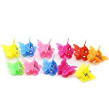 100 Pack of 90's Butterfly Hair Clips, 90's Accessories Hair Clips, Bulk Small Butterfly Hair Clips (100-Pack)